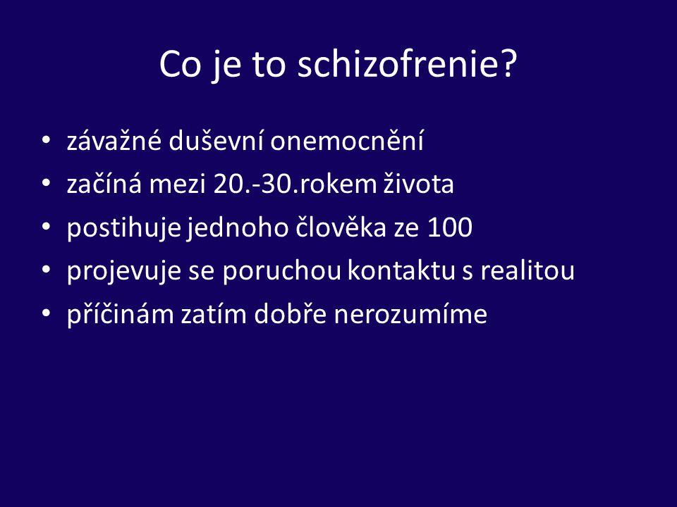 Co je to schizofrenie závažné duševní onemocnění