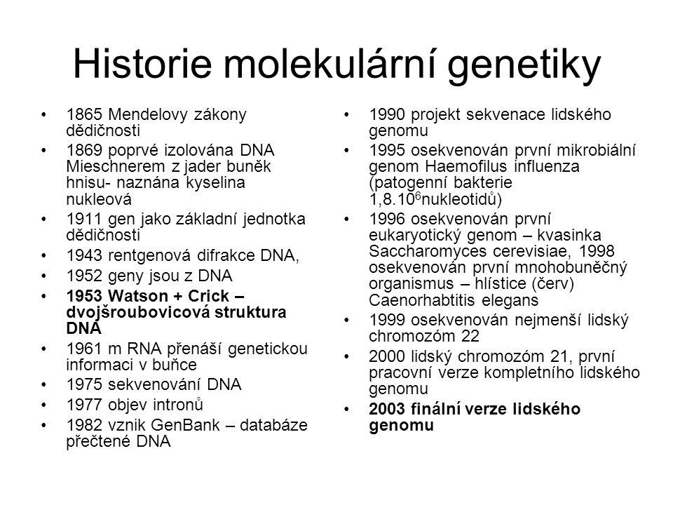 Historie molekulární genetiky