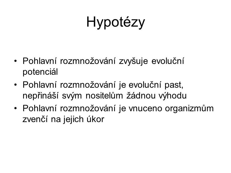 Hypotézy Pohlavní rozmnožování zvyšuje evoluční potenciál