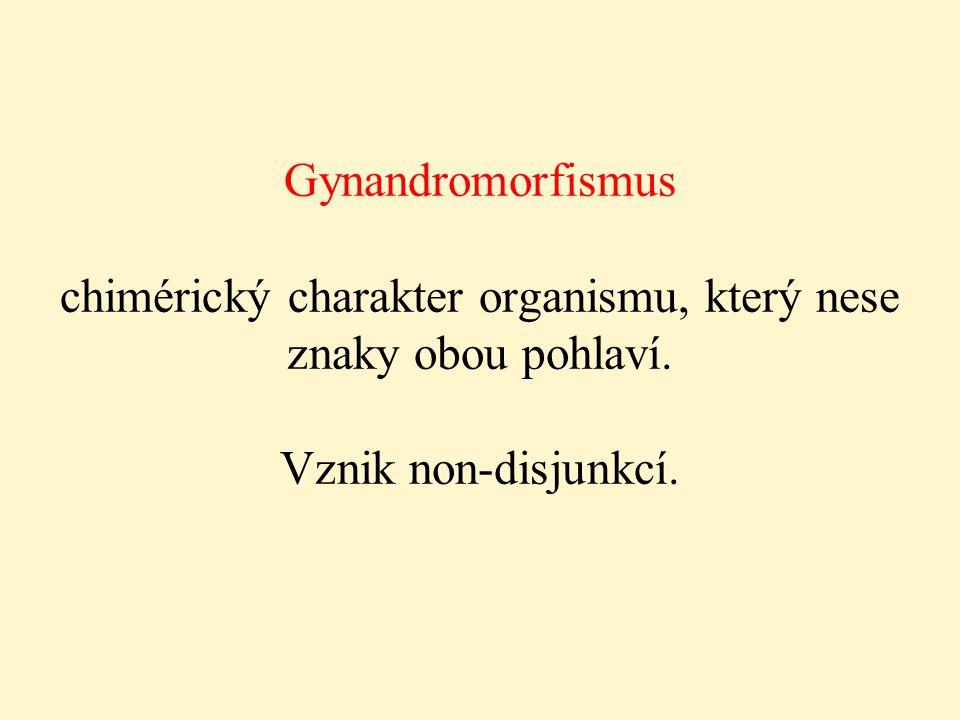 Gynandromorfismus chimérický charakter organismu, který nese znaky obou pohlaví.