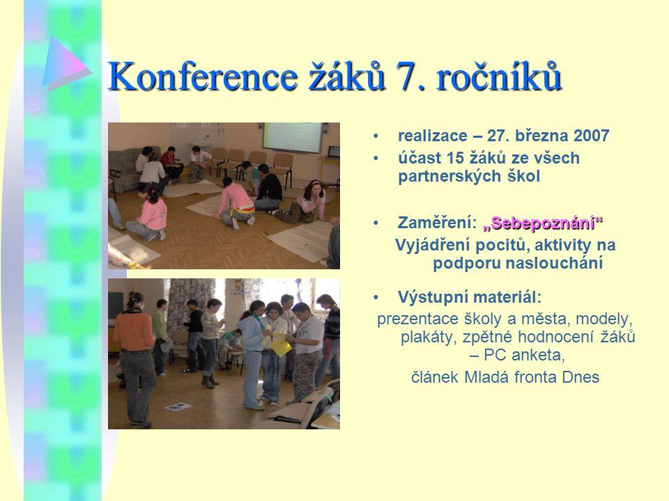 Konference žáků 7. ročníků