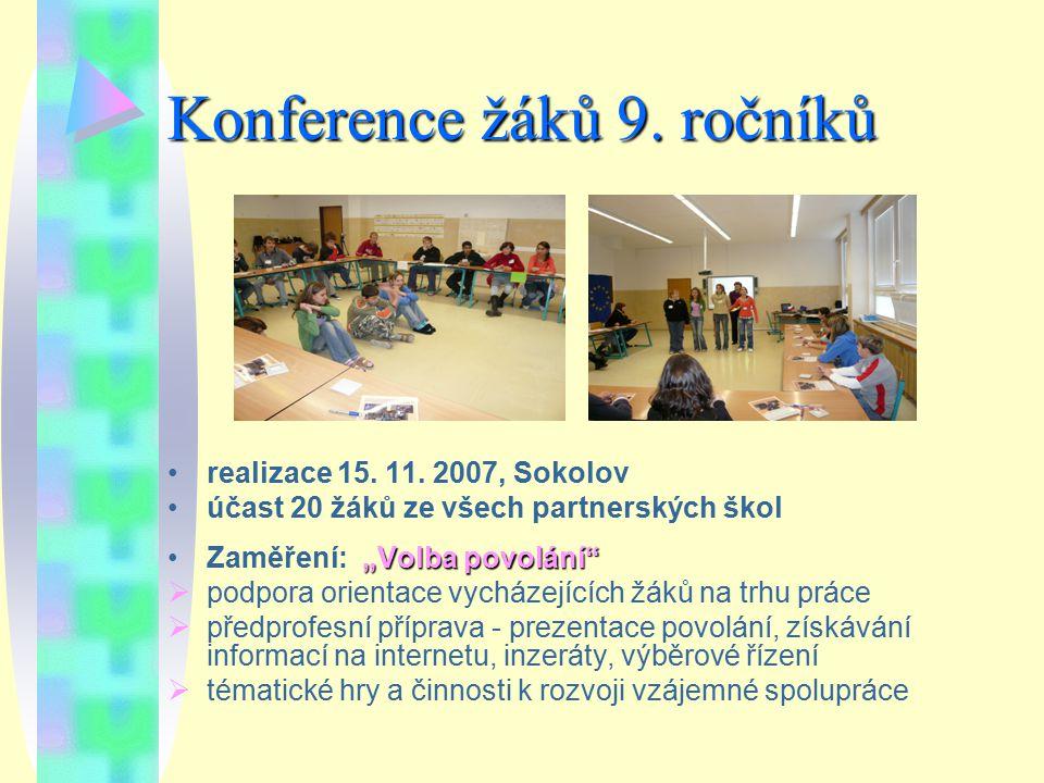 Konference žáků 9. ročníků