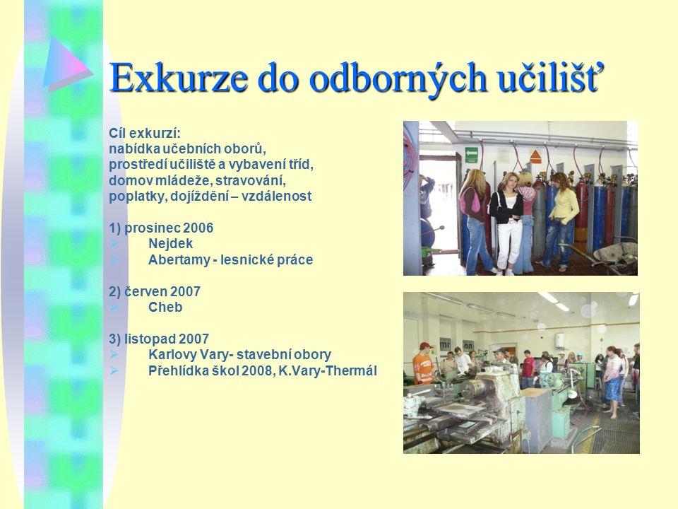 Exkurze do odborných učilišť