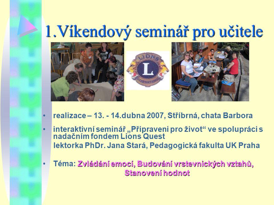 1.Víkendový seminář pro učitele