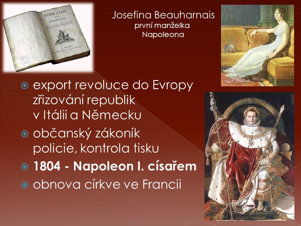 Josefina Beauharnais první manželka Napoleona