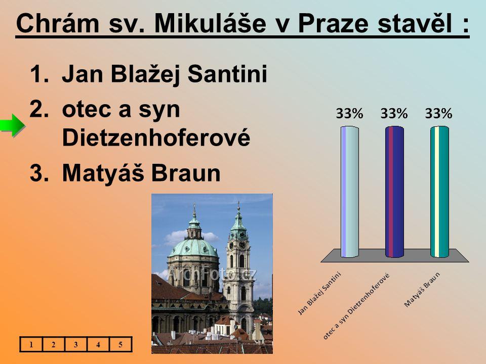 Chrám sv. Mikuláše v Praze stavěl :
