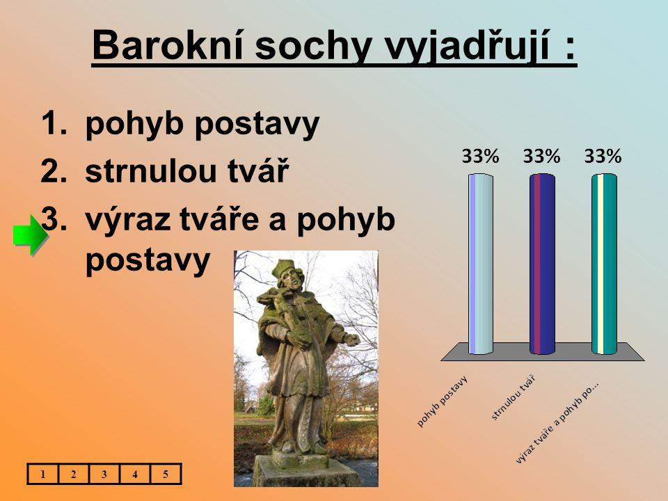 Barokní sochy vyjadřují :