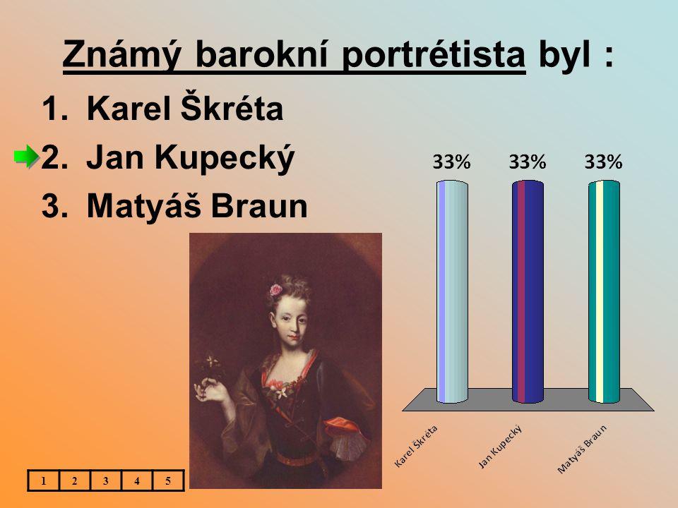 Známý barokní portrétista byl :