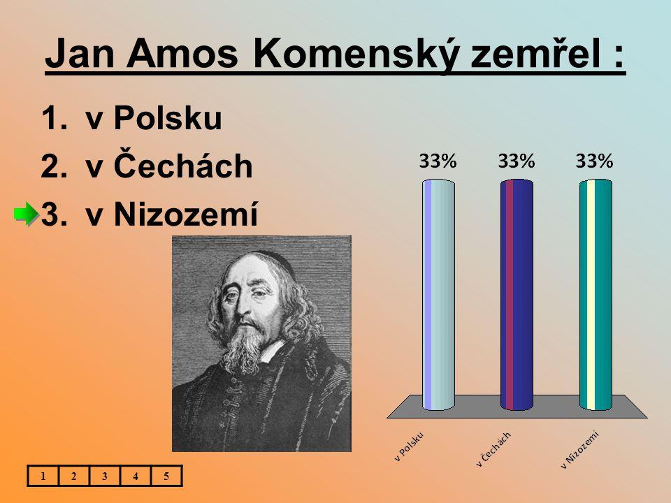 Jan Amos Komenský zemřel :