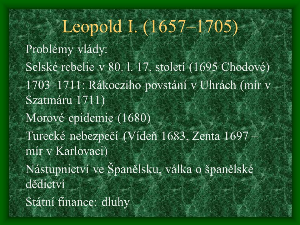 Leopold I. (1657–1705)