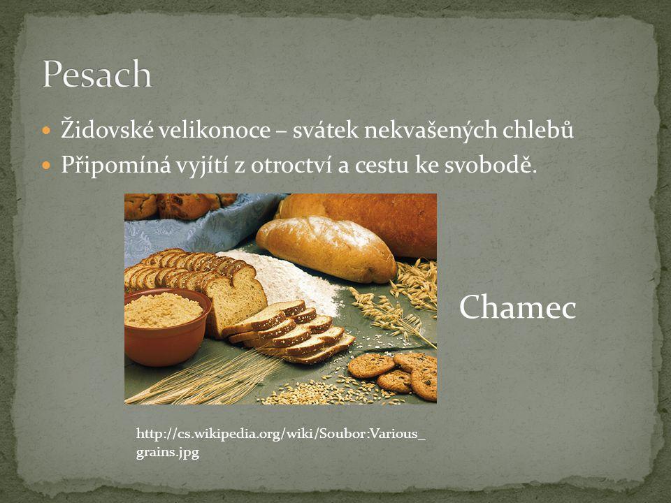 Pesach Chamec Židovské velikonoce – svátek nekvašených chlebů