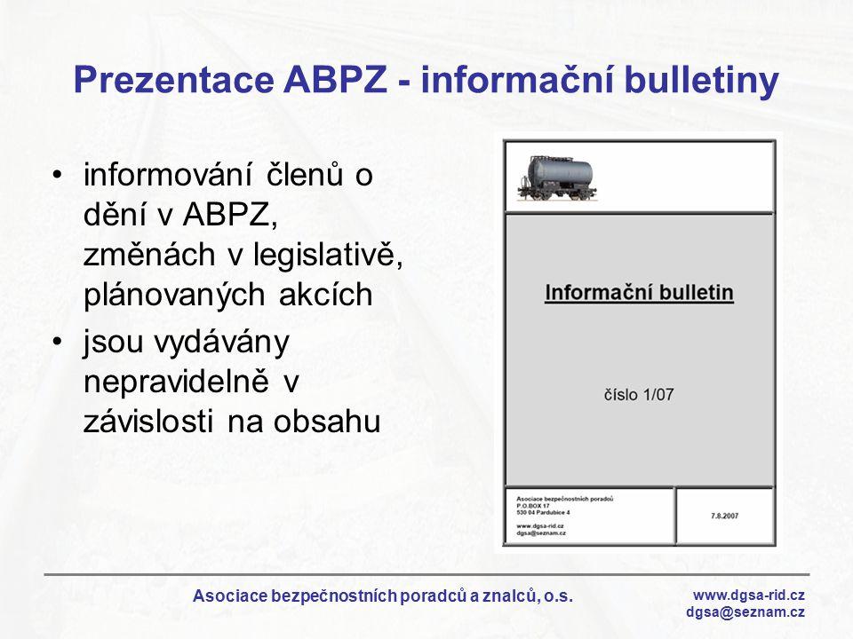 Prezentace ABPZ - informační bulletiny