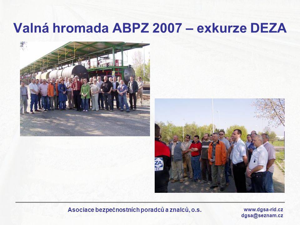 Valná hromada ABPZ 2007 – exkurze DEZA