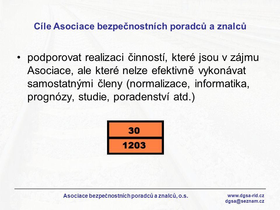 Cíle Asociace bezpečnostních poradců a znalců