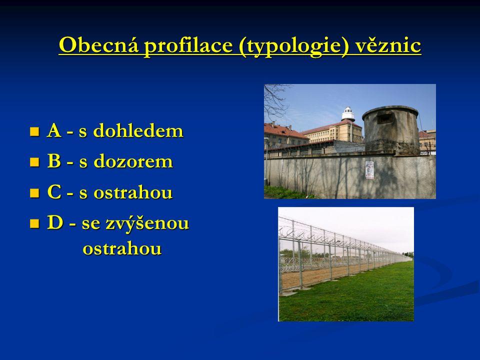 Obecná profilace (typologie) věznic