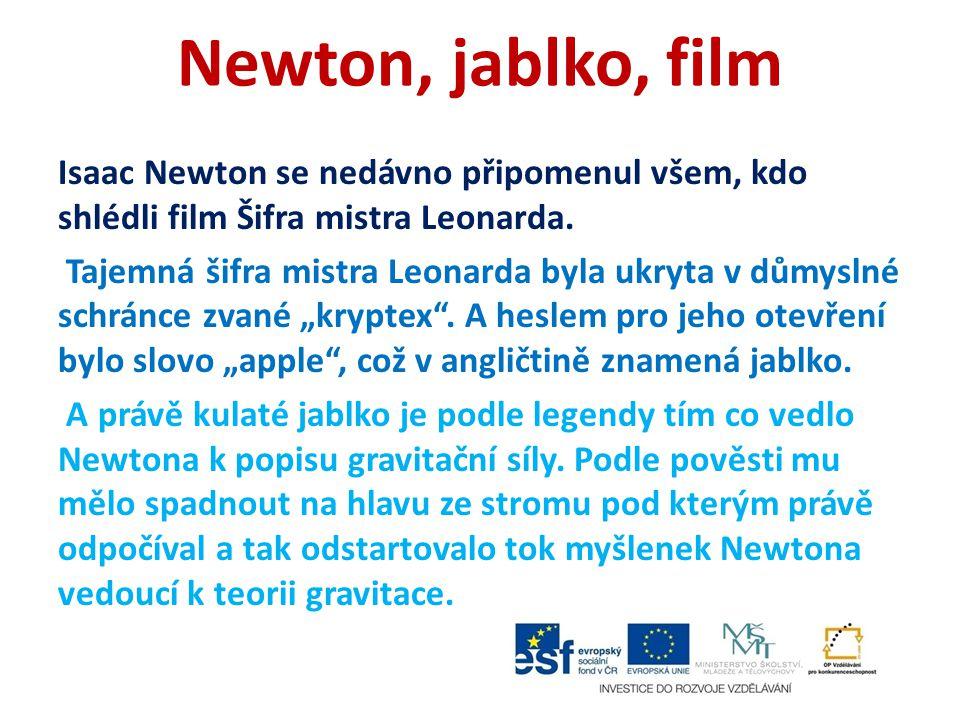 Newton, jablko, film