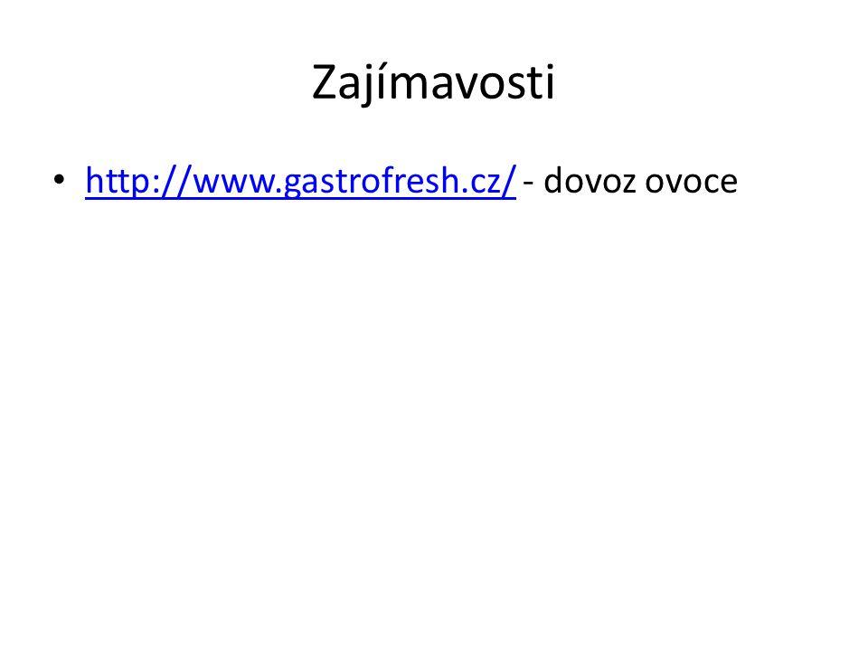 Zajímavosti http://www.gastrofresh.cz/ - dovoz ovoce