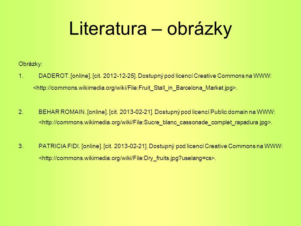 Literatura – obrázky Obrázky:
