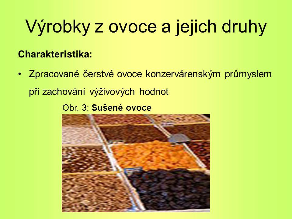 Výrobky z ovoce a jejich druhy