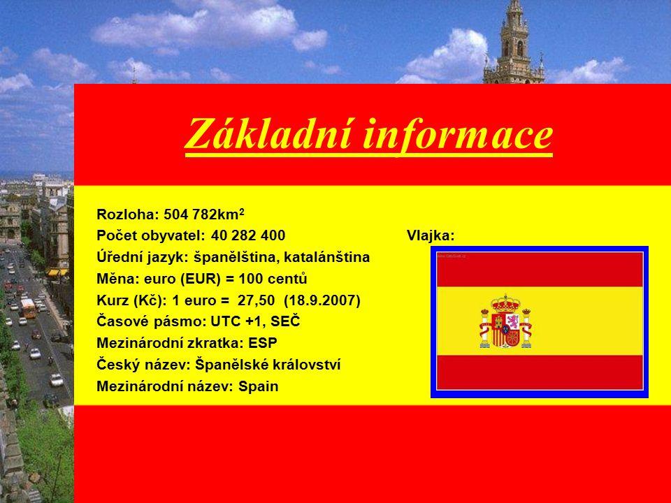 Základní informace Rozloha: 504 782km2