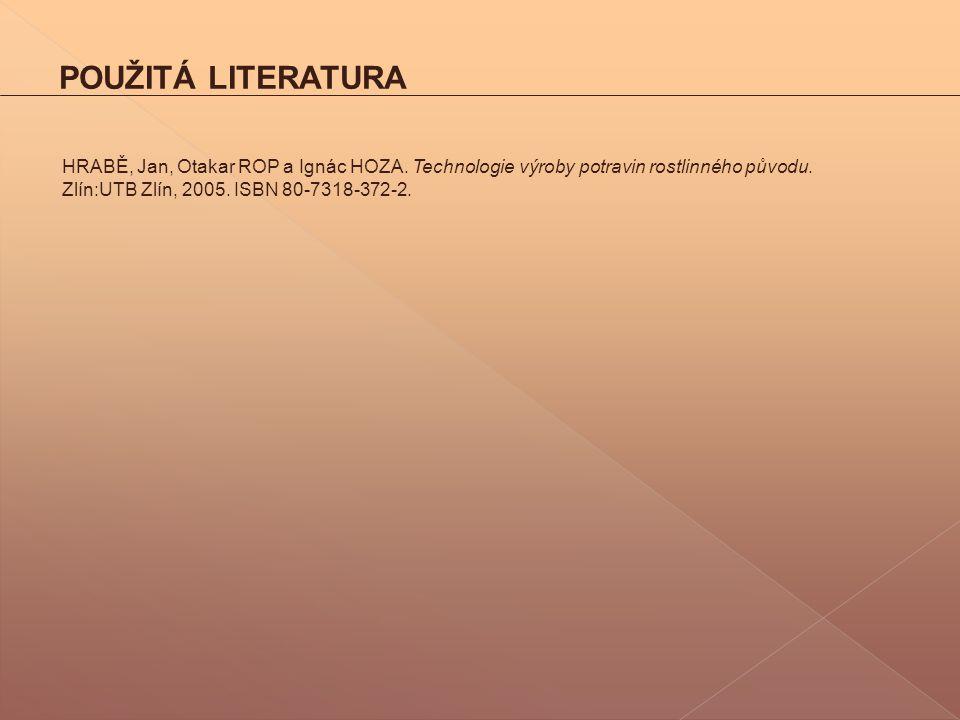 POUŽITÁ LITERATURA HRABĚ, Jan, Otakar ROP a Ignác HOZA.