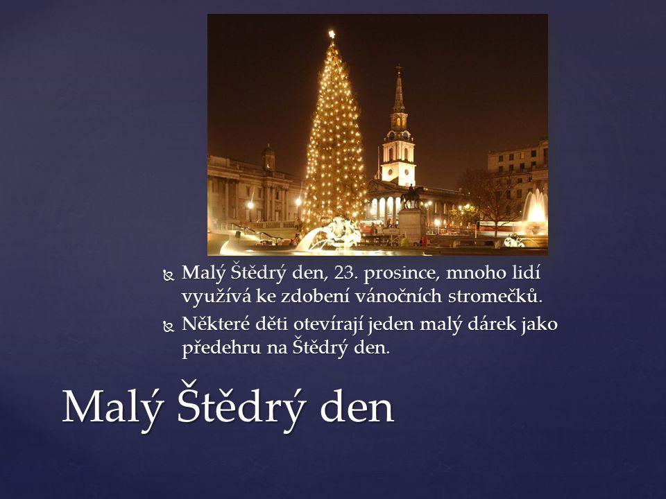 Malý Štědrý den, 23. prosince, mnoho lidí využívá ke zdobení vánočních stromečků.