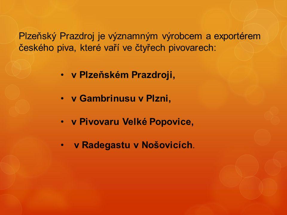 Plzeňský Prazdroj je významným výrobcem a exportérem českého piva, které vaří ve čtyřech pivovarech: