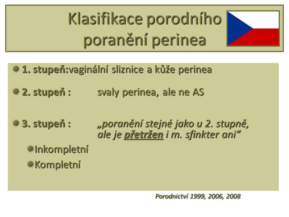 Klasifikace porodního poranění perinea