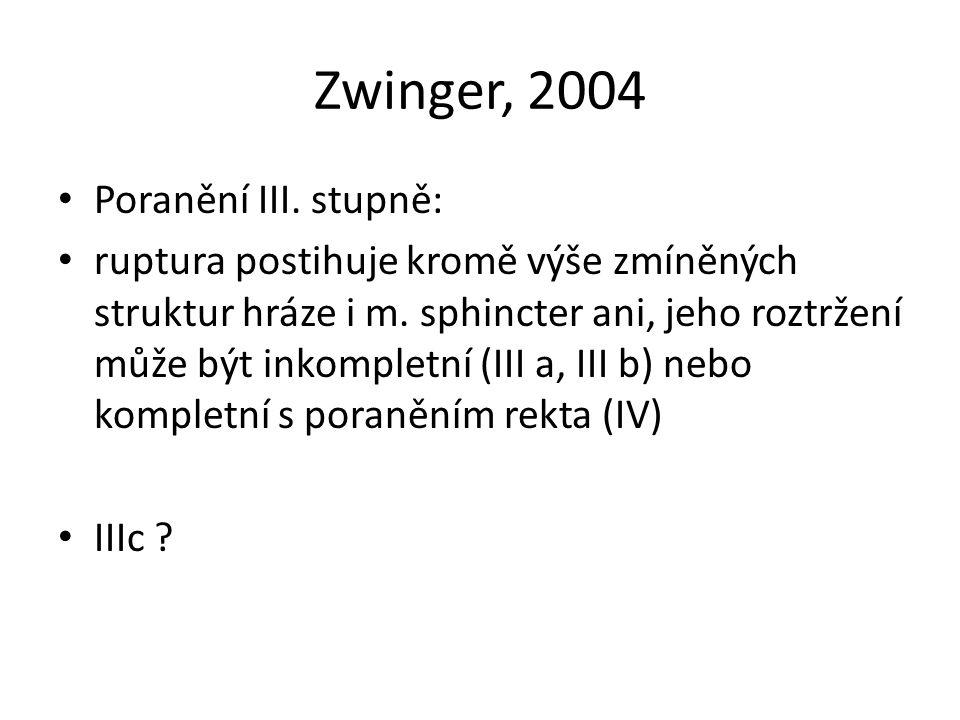 Zwinger, 2004 Poranění III. stupně: