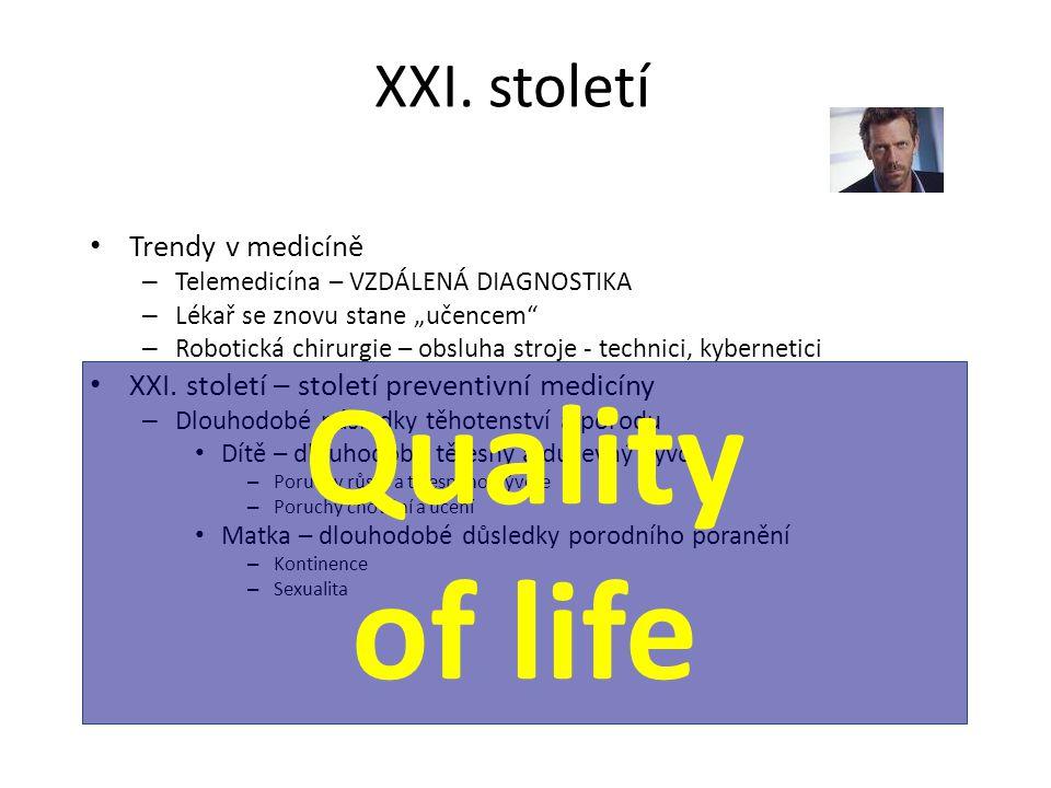 Quality of life XXI. století Trendy v medicíně