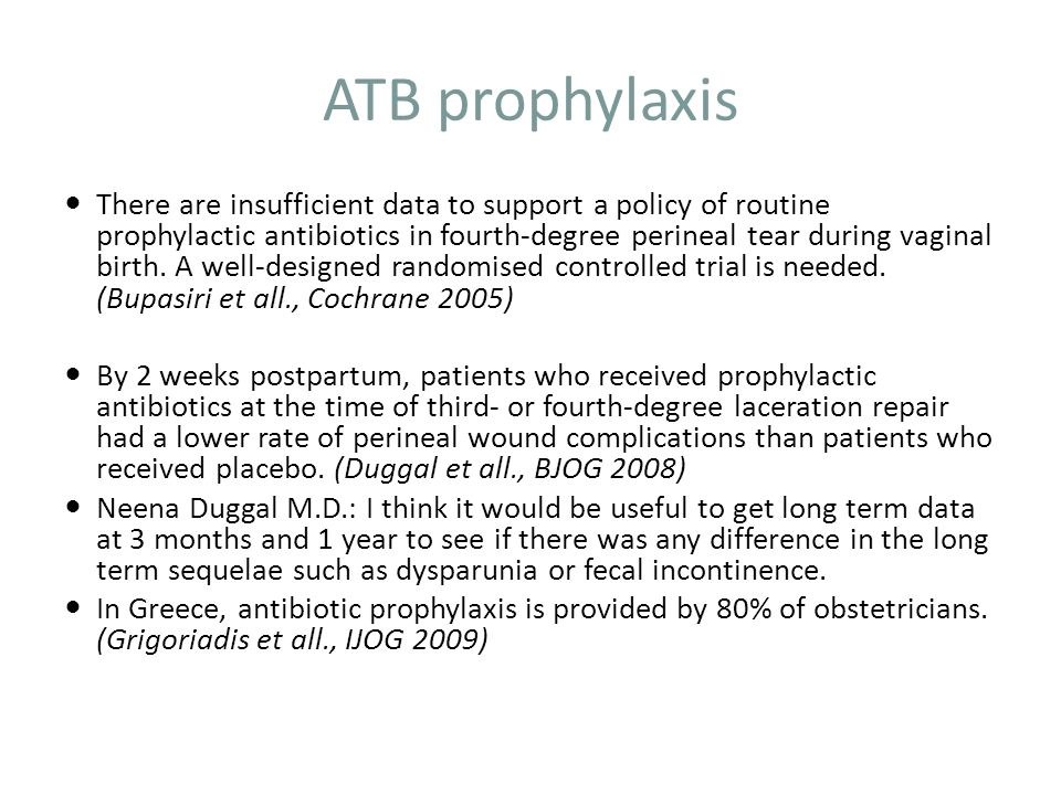 ATB prophylaxis