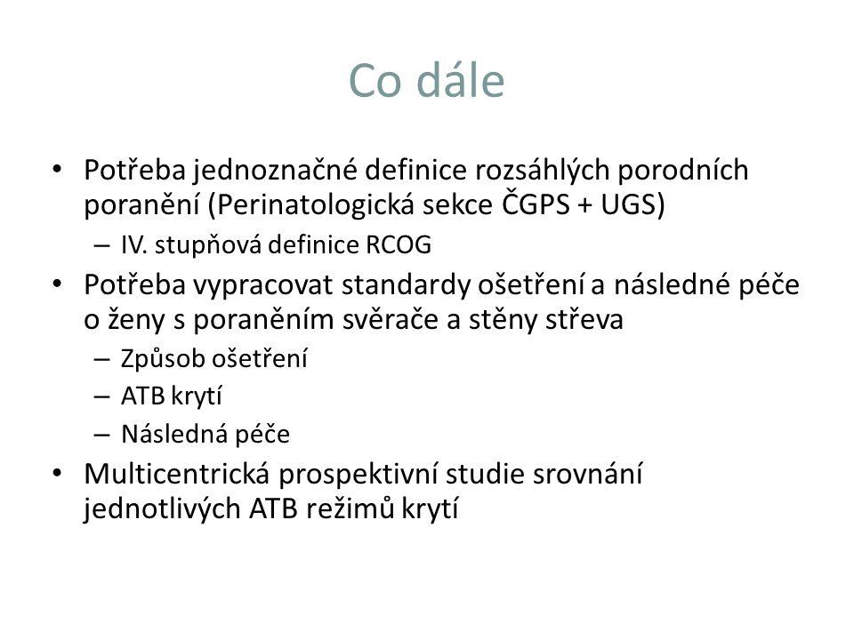 Co dále Potřeba jednoznačné definice rozsáhlých porodních poranění (Perinatologická sekce ČGPS + UGS)