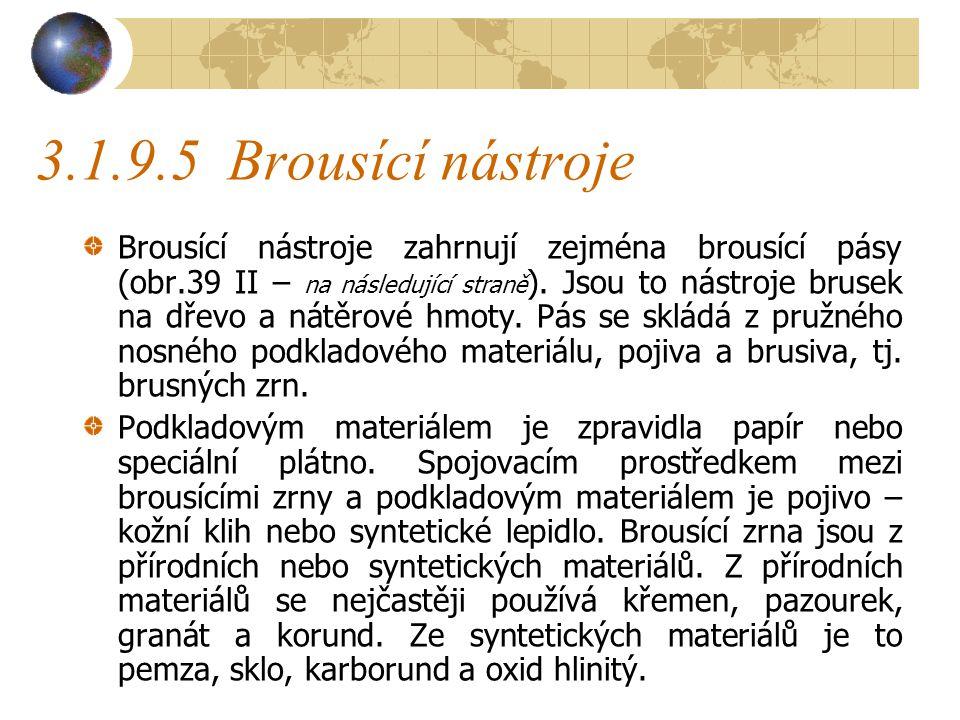 3.1.9.5 Brousící nástroje
