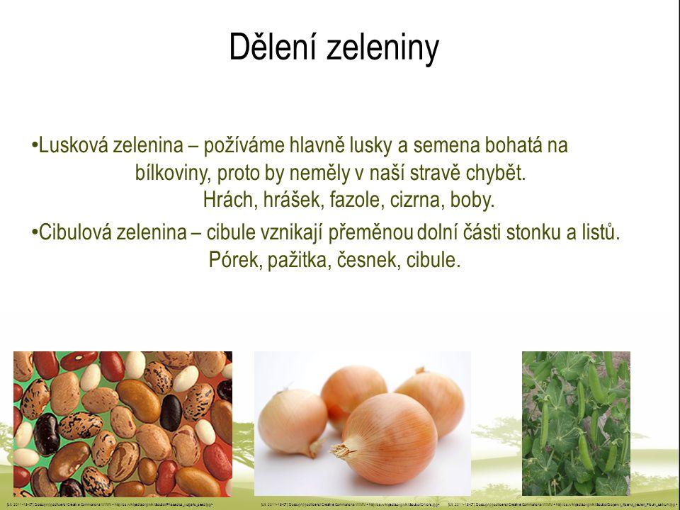 Dělení zeleniny