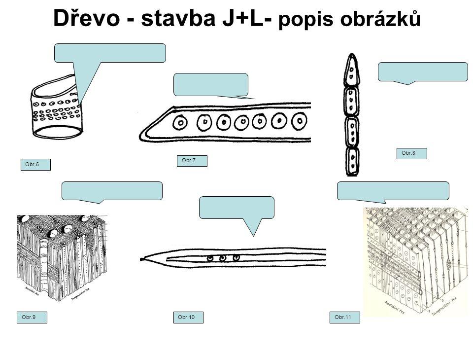 Dřevo - stavba J+L- popis obrázků