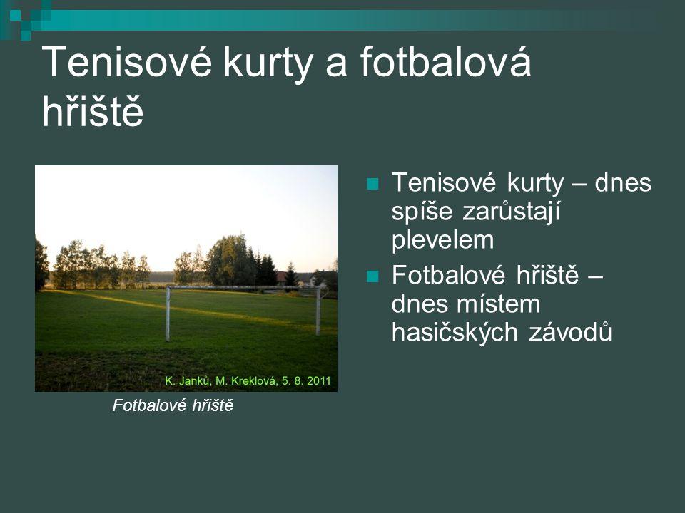 Tenisové kurty a fotbalová hřiště