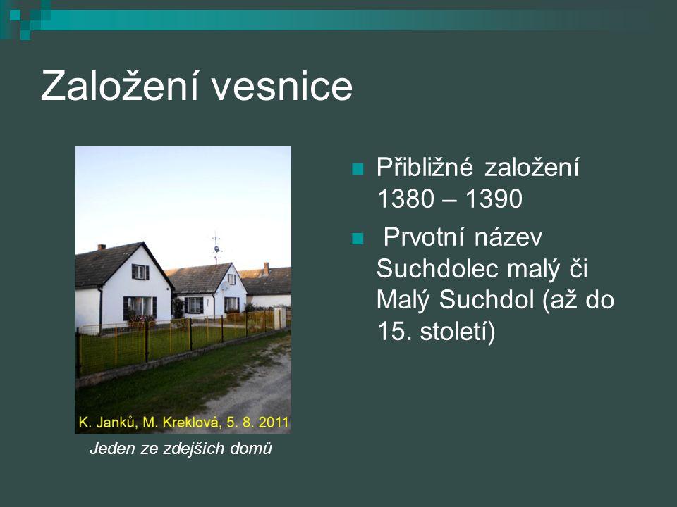 Založení vesnice Přibližné založení 1380 – 1390