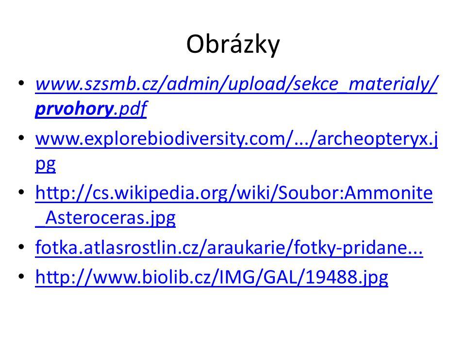 Obrázky www.szsmb.cz/admin/upload/sekce_materialy/prvohory.pdf