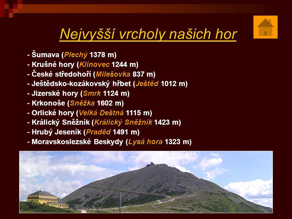 Nejvyšší vrcholy našich hor