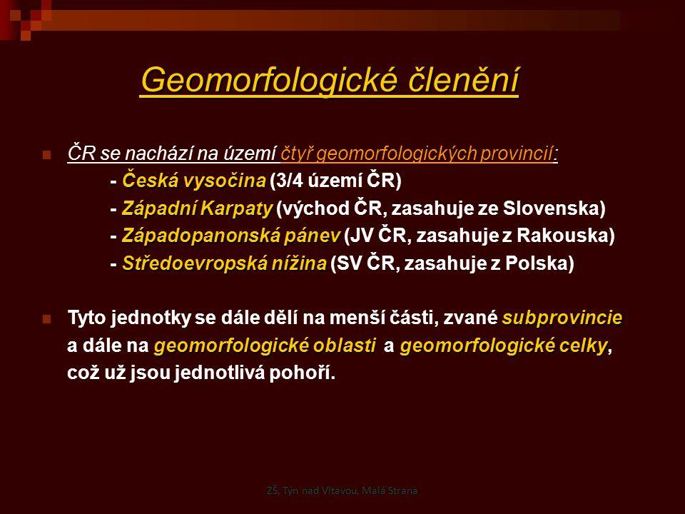 Geomorfologické členění