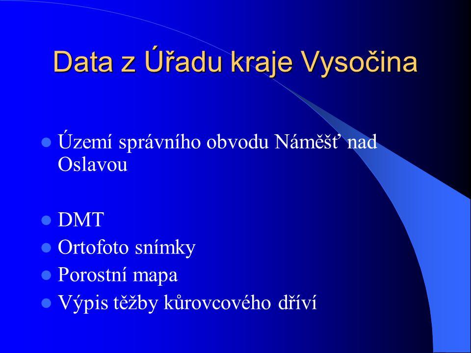 Data z Úřadu kraje Vysočina