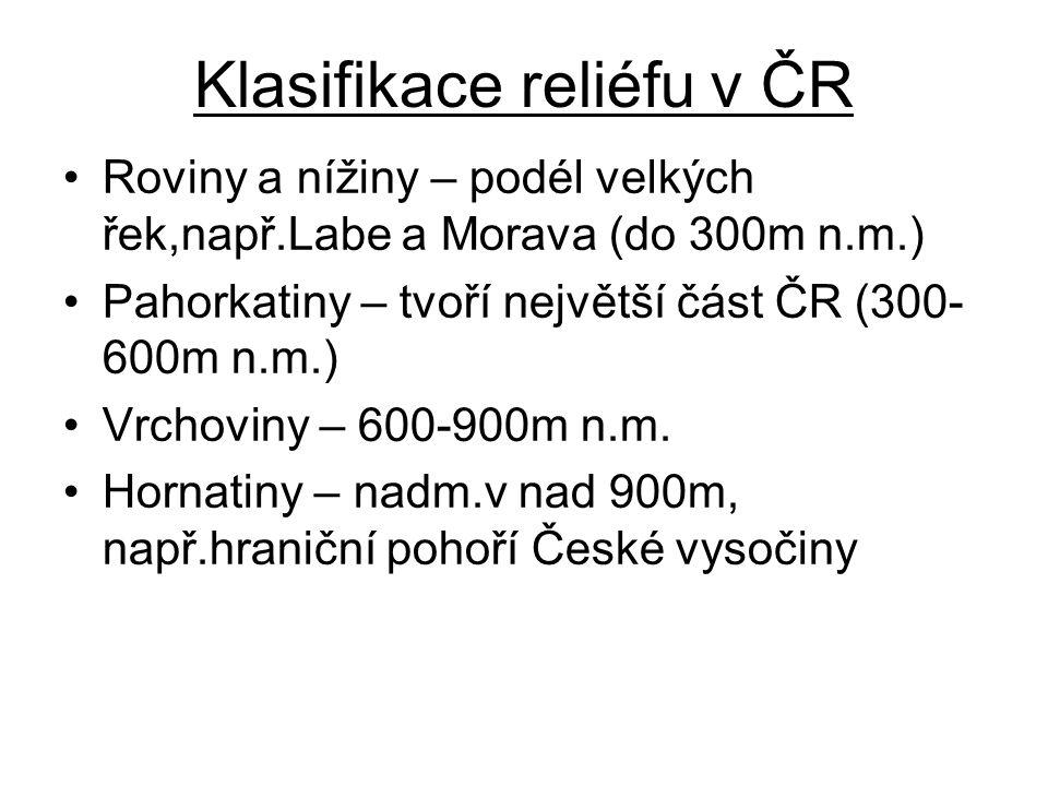 Klasifikace reliéfu v ČR