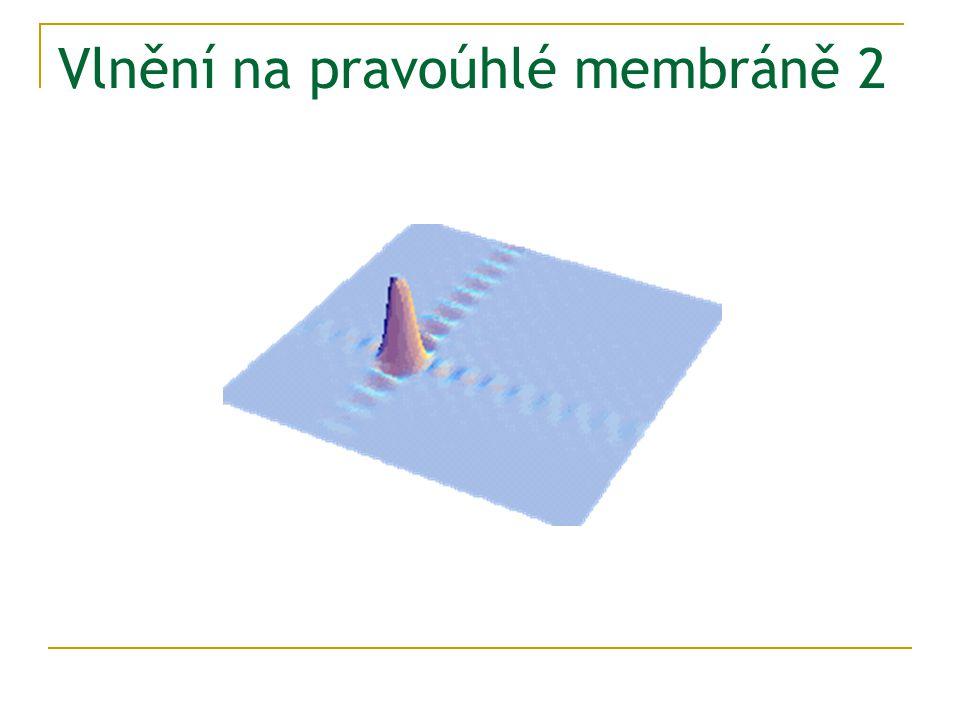 Vlnění na pravoúhlé membráně 2