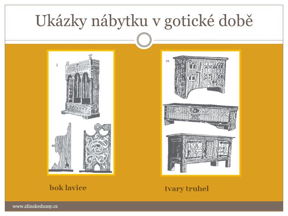 Ukázky nábytku v gotické době