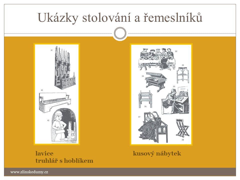 Ukázky stolování a řemeslníků