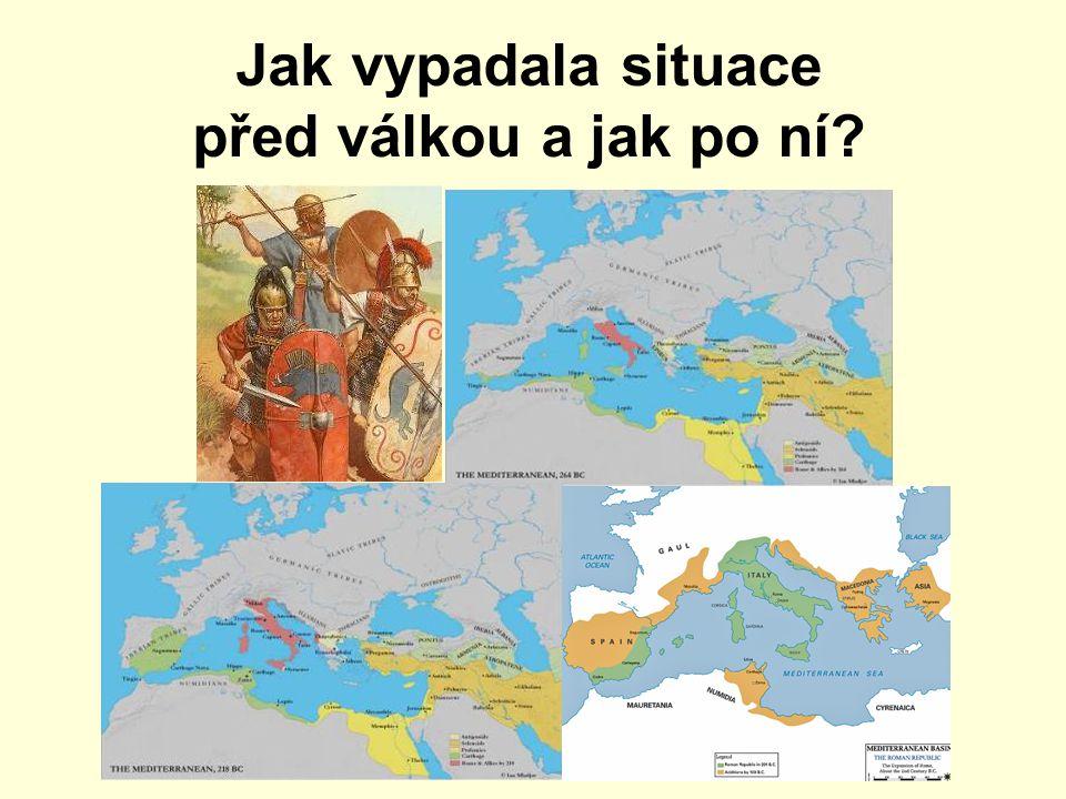 Jak vypadala situace před válkou a jak po ní
