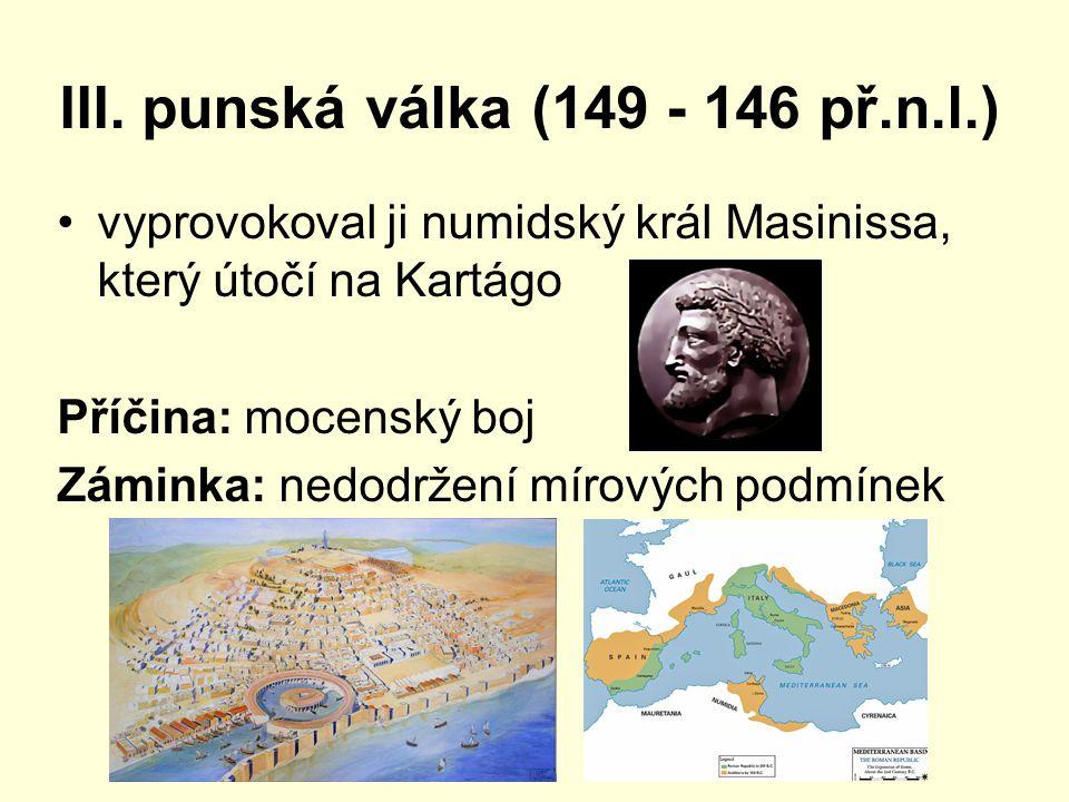 III. punská válka (149 - 146 př.n.l.)