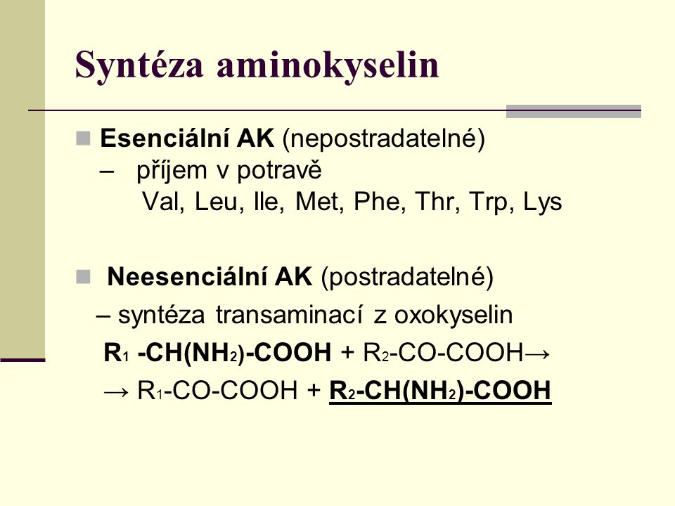 Syntéza aminokyselin