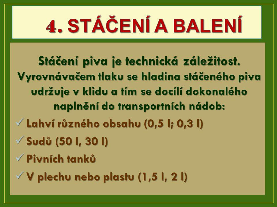 4. STÁČENÍ A BALENÍ