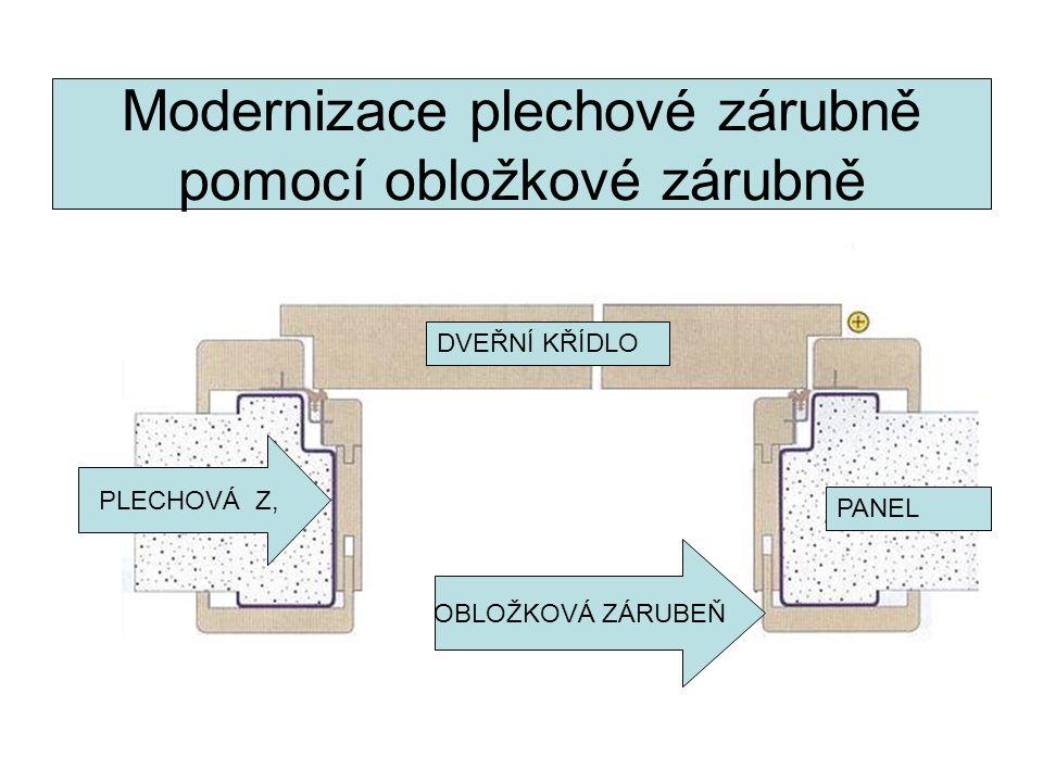Modernizace plechové zárubně pomocí obložkové zárubně